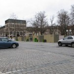 Animation durch Wir sind Fürth: mögliche Ansicht des aktuell von der Stadt Fürth geplanten Wochenmarktes - Blick von der Freiheit zur Konrad-Adenauer-Anlage.
